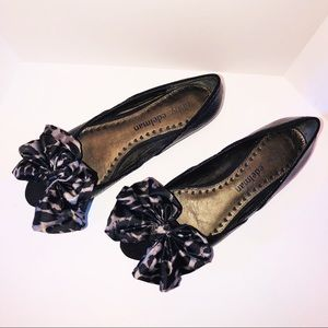 Libby Edelman peep toe ballet flat with bow